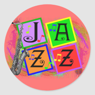 Jazz Music Lovers Gifts Stickers