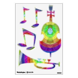Jazz Music Notes - Dancing Bass Trumpet Wall Decals