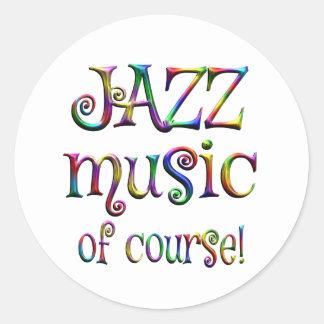 Jazz Music of Course Classic Round Sticker