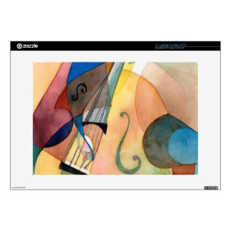 "Jazz Music Painting ""Bassline"" 15"" Laptop Decals"