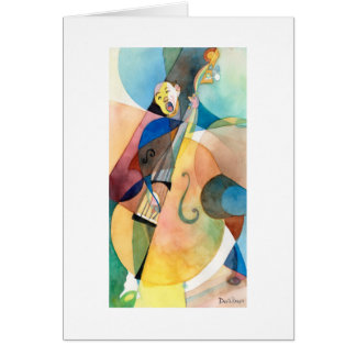 "Jazz Music Painting ""Bassline"" Card"