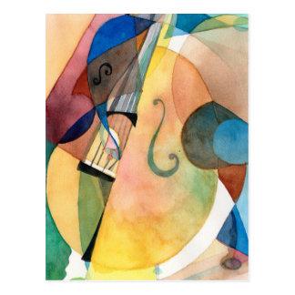 "Jazz Music Painting ""Bassline"" Postcard"