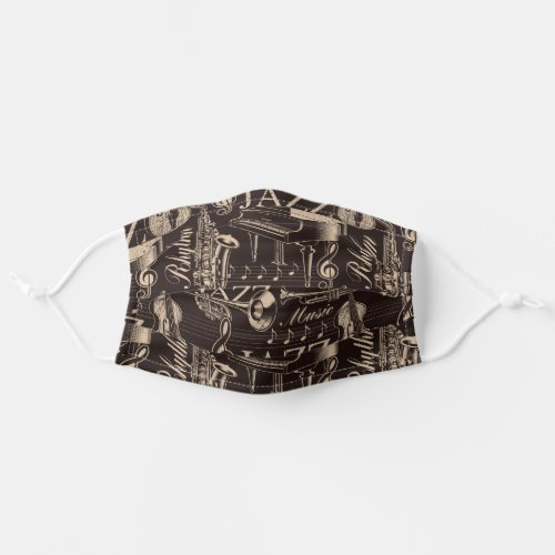Jazz Music Pattern Adult Cloth Face Mask