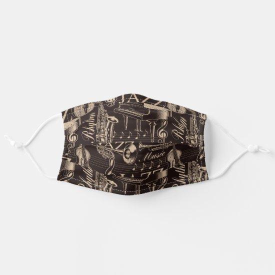Jazz Music Pattern Cloth Face Mask