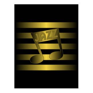 jazz music postcard