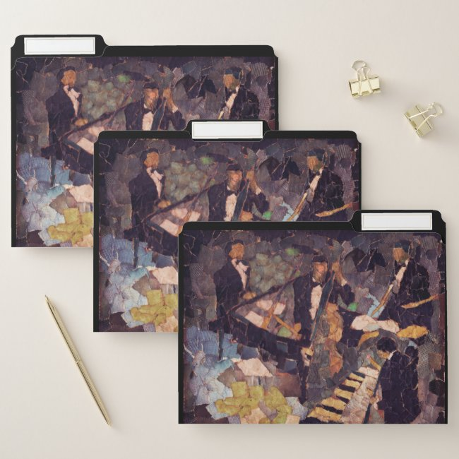 Jazz Music Quartet File Folder Set