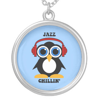 jazz music round pendant necklace