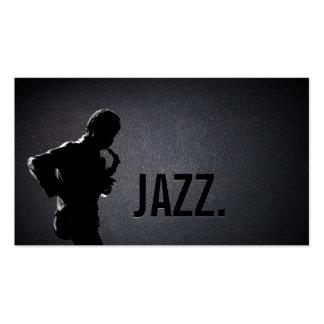 Jazz Music Sax Player Elegant Dark Business Card