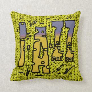 Jazz Music Throw Pillow
