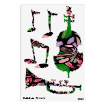McTiffany Tiffany Aqua Jazz Music Tiffany Wall Decal