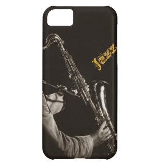 Jazz Musicans del saxofonista del saxofón del jazz Funda Para iPhone 5C