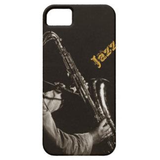 Jazz Musicans del saxofonista del saxofón del jazz iPhone 5 Carcasa