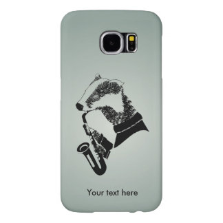 Jazz Musician Badger Saxophone Customizable Samsung Galaxy S6 Case