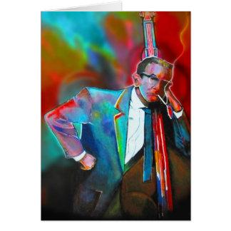 Jazz musician greeting card