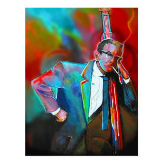 Jazz musician postcard