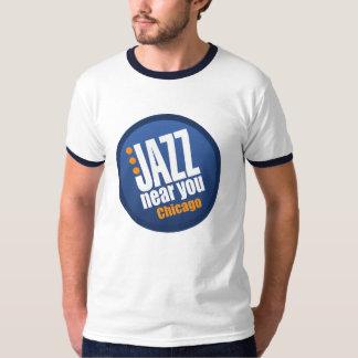 Jazz Near You Chicago Men's Vintage Ringer T Shirts