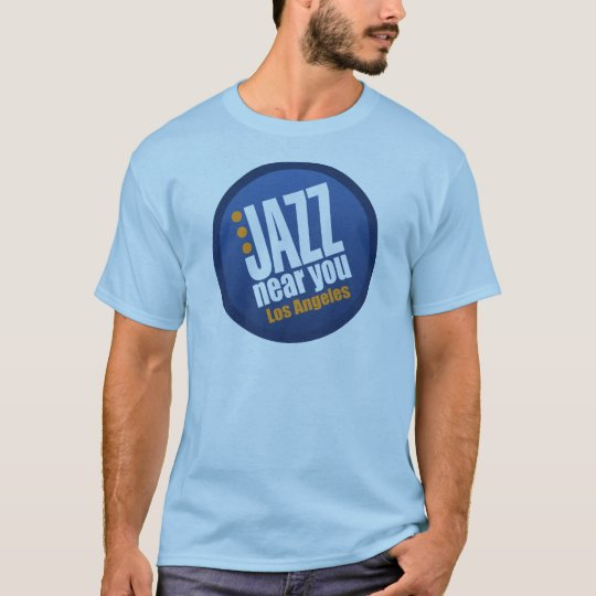 Jazz Near You Los Angeles Men's Short Sleeve Basic T-Shirt
