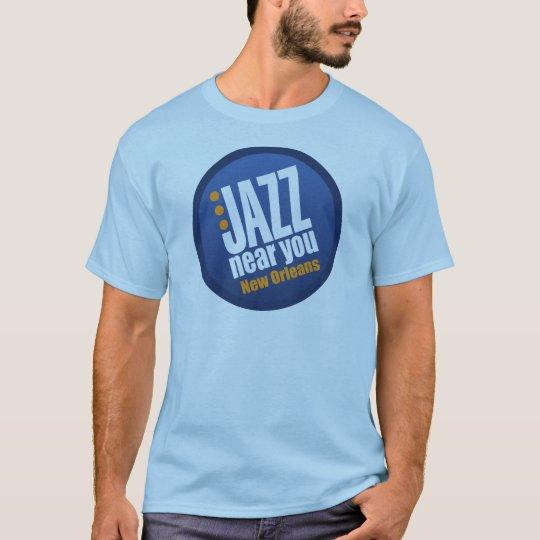 Jazz Near You New Orleans Men's Short Sleeve Basic T-Shirt