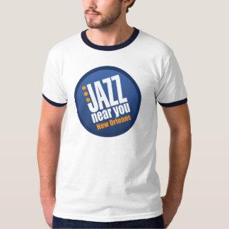 Jazz Near You New Orleans Vintage Ringer T-Shirt
