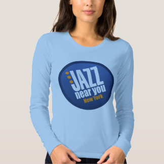 Jazz Near You New York Ladies Long Sleeve Fitted Tee Shirt