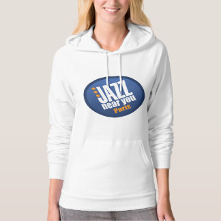 Jazz Near You Paris Ladies Fleece Hoodie