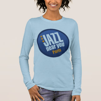 Jazz Near You Paris Ladies Long Sleeve Fitted Long Sleeve T-Shirt