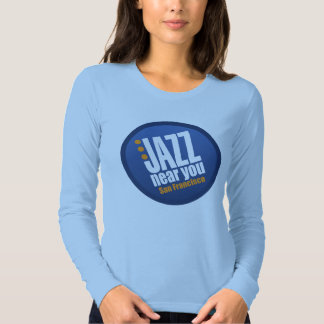 Jazz Near You San Francisco Ladies Fitted T Shirt