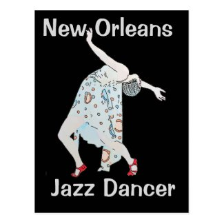 Jazz, New Orleans, Dancer Postcard