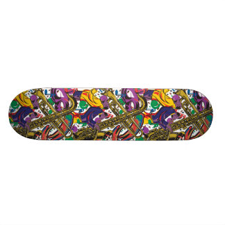 Jazz - New Orleasn Mardis Gras Skateboard