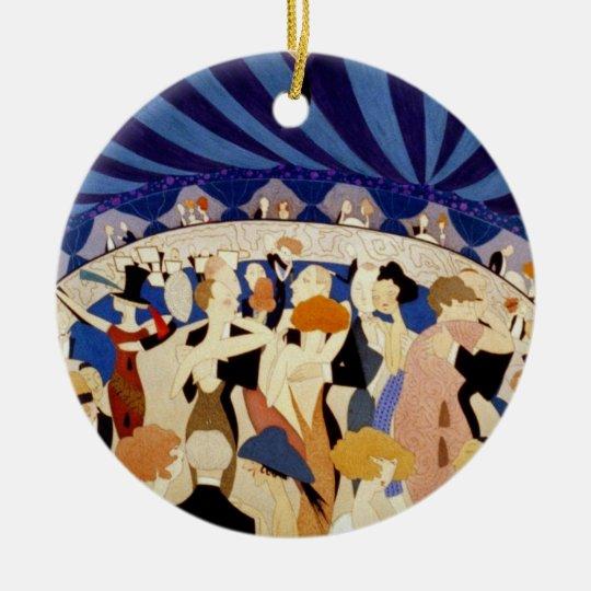Jazz Night Dance Ceramic Ornament