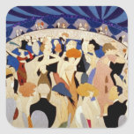 Jazz Night Dance Square Sticker