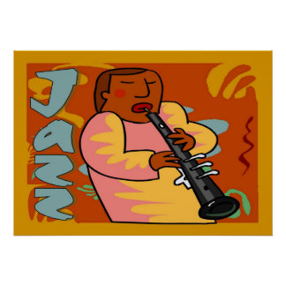 caricature of oboe player