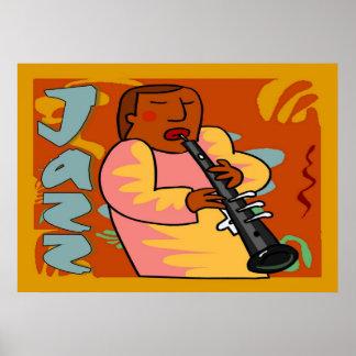Jazz Oboe Player Print