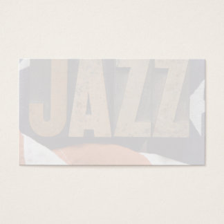 jazz on American flag Business Card