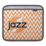 Jazz; Orange and White Chevron Sleeve For iPads