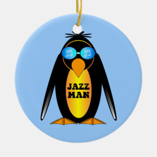 jazz Double-Sided ceramic round christmas ornament