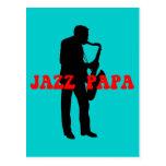 Jazz papa jazz postcard