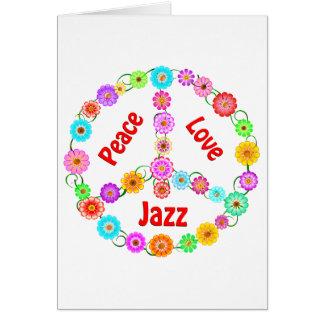 Jazz Peace Love Card
