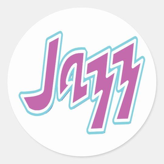 Jazz Pegatina Redonda