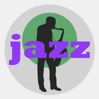 Jazz Pegatinas Redondas