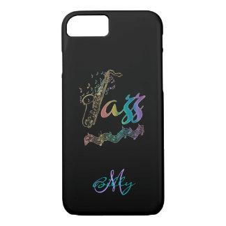 Jazz Personalized Rainbow Sax Music iPhone 7 Case