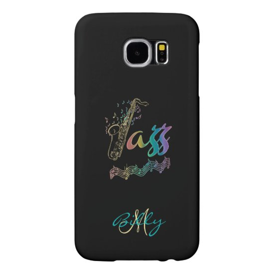 Jazz ~ Personalized Rainbow Sax Music S6 Case