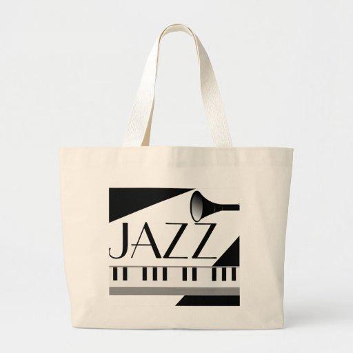 Jazz Piano Music Tote Bag