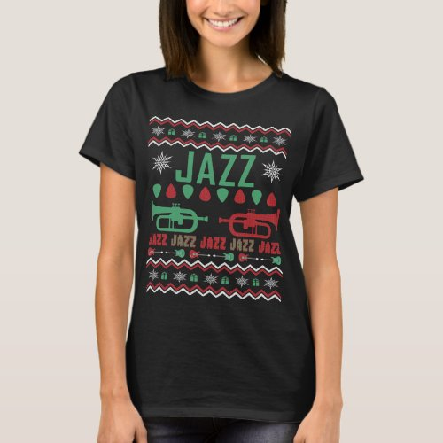Jazz Player Ugly Christmas Sweater After Christmas Sales 5516