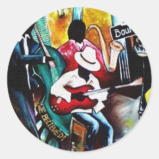 jazz purse.jpg classic round sticker
