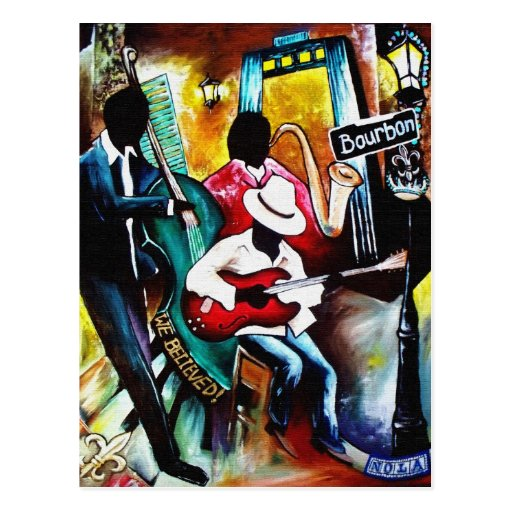 jazz purse.jpg Postcard