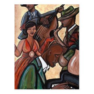 Jazz Quartet Postcard