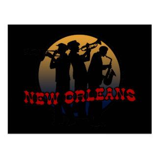 Jazz retro de New Orleans Postales
