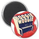 Jazz retro de Woogie de la boogie del vintage clás Imán Para Frigorífico