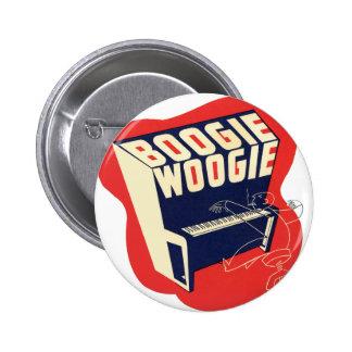 Jazz retro de Woogie de la boogie del vintage clás Pin Redondo De 2 Pulgadas